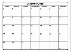 December 2019 calendar * December 2019 calendar printable