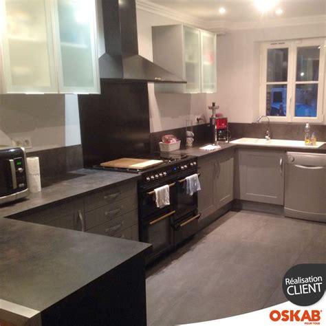 piano pour cuisine cuisine équipée grise bois moderne filipen gris mat