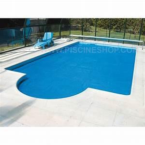 Bache À Bulles Piscine : b che piscine bulles bleu 400 microns bord e 4 cot s ~ Melissatoandfro.com Idées de Décoration