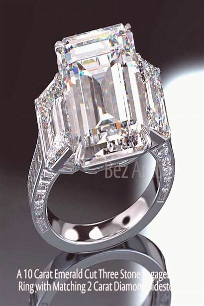 Diamond Emerald Cut Ring Yuh10 Carat