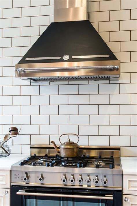 subway tile backsplash kitchen white subway tile with gray grout diy house projects