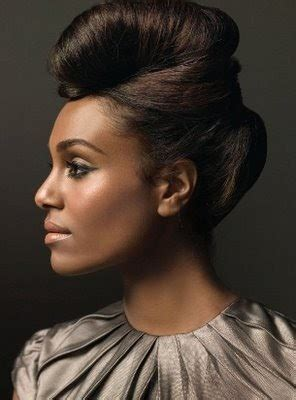 Black 50s Hairstyles by Hairstyles Dramatic 50s Updo Hairstyle