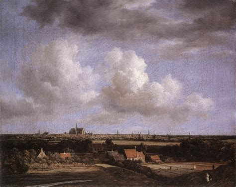 Landscape With A View Of Haarlem By Ruisdael, Jacob