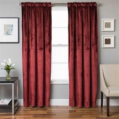 Softline Drapery Terni Fashions Solid Crimson Panels