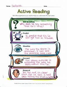 Reading Graphic Organizer: Active Reading | Printable ...