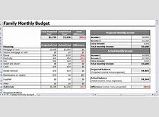 Personal Budget Finance Personal Budget Model