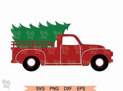 Truck Christmas Tree Clipart Graphics Thehungryjpeg Cart