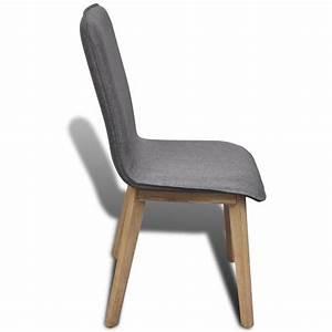 Tissu Pour Chaise : acheter chaise gondole pour int rieur en ch ne tissu set de pi ces gris fonc pas cher ~ Teatrodelosmanantiales.com Idées de Décoration