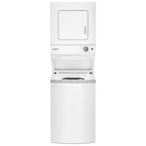 dryer whirlpool washer 120v stacked electric unit combo cu ft appliances duet laundry shield