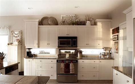 top of cabinet decor best kitchen decor aishalcyon org ideas for decorating