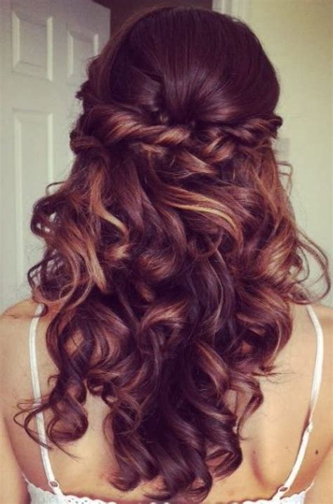 elegant curly  updo prom hairstyle  bouncy long