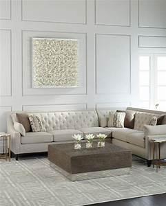 Linzie linen sectional sofa for Modern contemporary linen sectional sofa with