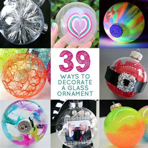 ways  decorate  glass ornament craft ideas