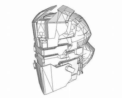 Space Dead Pepakura Helmet Template Paper Papercraft