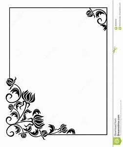 Cadre Noir Et Blanc : fleurs stylis es noir et blanc ~ Teatrodelosmanantiales.com Idées de Décoration