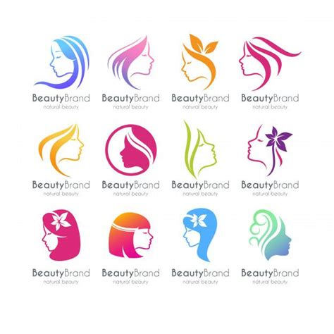 set  beauty logo template premium vector  vector
