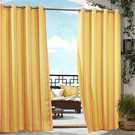 outdoor curtains bed bath and beyond commonwealth home fashions gazebo striped outdoor curtain