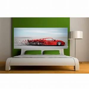 Tete De Lit Rouge : papier peint t te de lit voiture rouge art d co stickers ~ Teatrodelosmanantiales.com Idées de Décoration