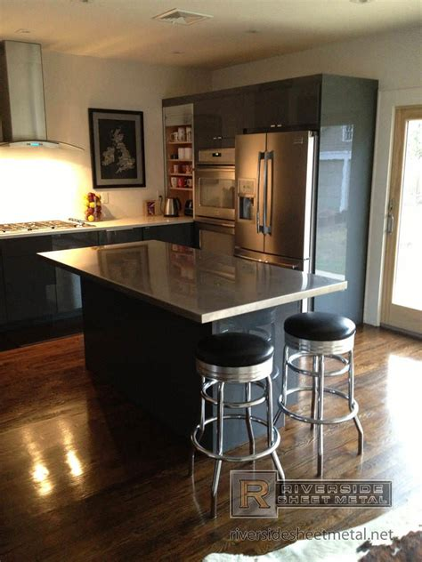 kitchen island with stainless steel top stainless steel counter tops kitchen island bar 9455