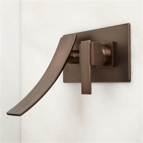 rubbed bronze kitchen faucet reston wall mount waterfall bathroom faucet bathroom