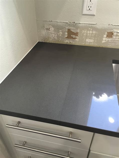 Kitchen Backsplash Ideas With Dark Cabinets - how noticeable should the seam be on a quartz counter install home improvement stack exchange