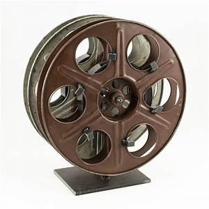 Vintage Film Reel Wine Rack - The Green Head