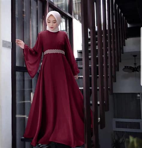 Baju Gamis Model Terbaru Kombinasi Renda Cantik RYN Fashion