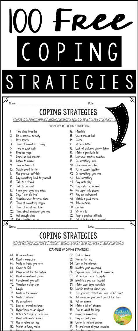 100 Free Coping Strategies For Anxiety, Anger, Depression