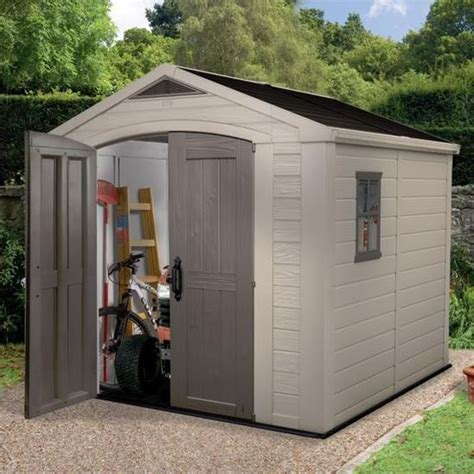 plastic outdoor storage sheds keter sheds the keter apollo plastic shed