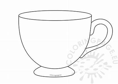 Tea Cup Template Teacup Printable Coloring Coffee