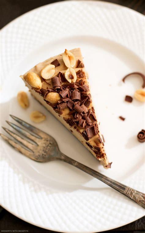 Healthy Chocolate Peanut Butter Raw Cheesecake Vegan