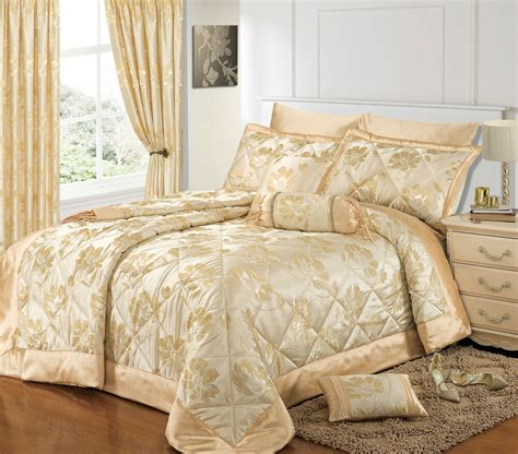 Bedspreads And Drapes - luxury opulent floral jacquard bedspread duvet cover