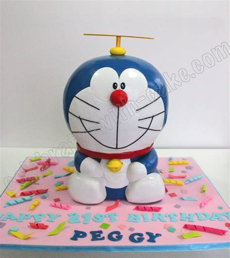Celebrate With Cake! Sculpted Doraemon Cake