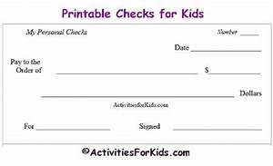 printable blank checks check register for kids cheques With birthday cheque template