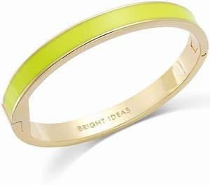 Kate Spade New York Goldtone Neon Green Bright Ideas Idiom