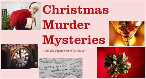 murder mystery party for christmas or new year s eve