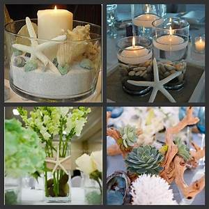 beach theme bridal shower centerpiece ideas weddings are With themed wedding shower ideas