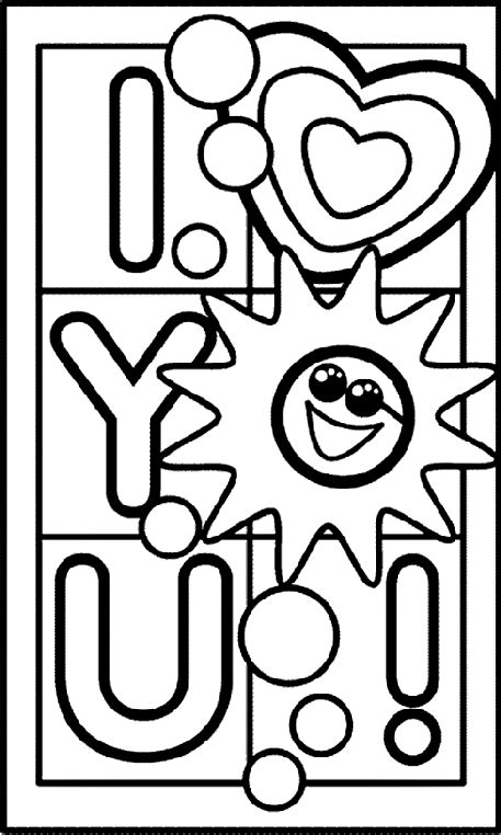 It's the holiday of love after all. I Love You Coloring Page | crayola.com