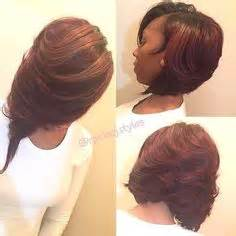 Layered Sew In Weave Hairstyles by I Used 3 Packs Of Wave By Kima Cut N Layered Bob For