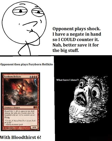 mtg magic gathering funny humor hellkite furyborn cards bloodthirst core silly lol jokes journey
