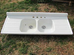 enamel kitchen sink with drainboard antique enamel porcelain farm house sink drainboard