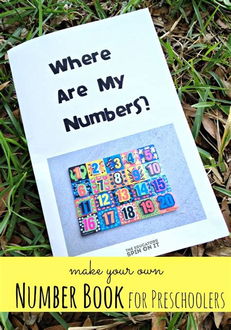 preschool number book diy number book for preschoolers the educators spin on it 179