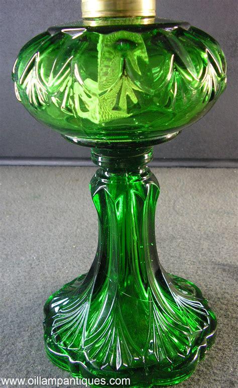 green glass l antique green glass kerosene l burner wick