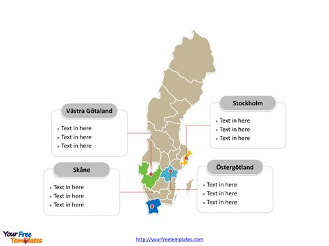sweden editable map  powerpoint templates