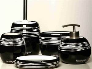 Black Bathroom Accessories Sets : Decorating Bathroom