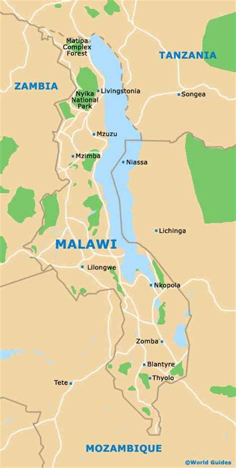 malawi maps and orientation malawi south east africa