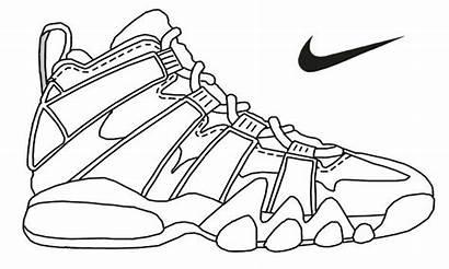 Jordan Coloring Air Pages Shoes Printable Getcolorings