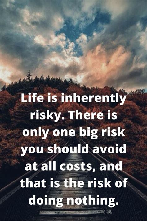 life  inherently risky     big ri