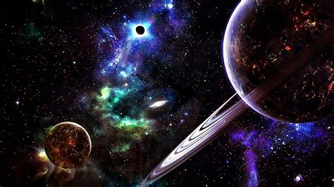 Planets In The Universe Hd Wallpaper