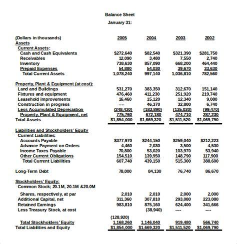 balance sheet template 18 balance sheet exles in word pdf free premium templates